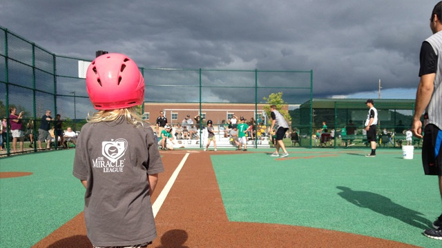 La Crosse Loggers play at Miracle Field