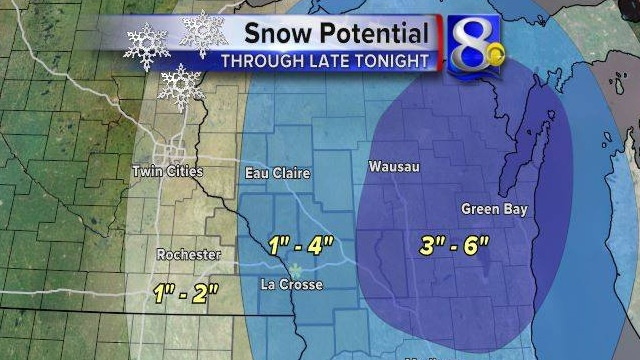 1-4 inches of snow possible in La Crosse; some schools closing early