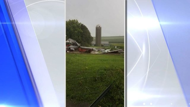 Tornado caught on camera causes damage in Winneshiek Co.