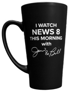 Black mug - News 8 This Morning