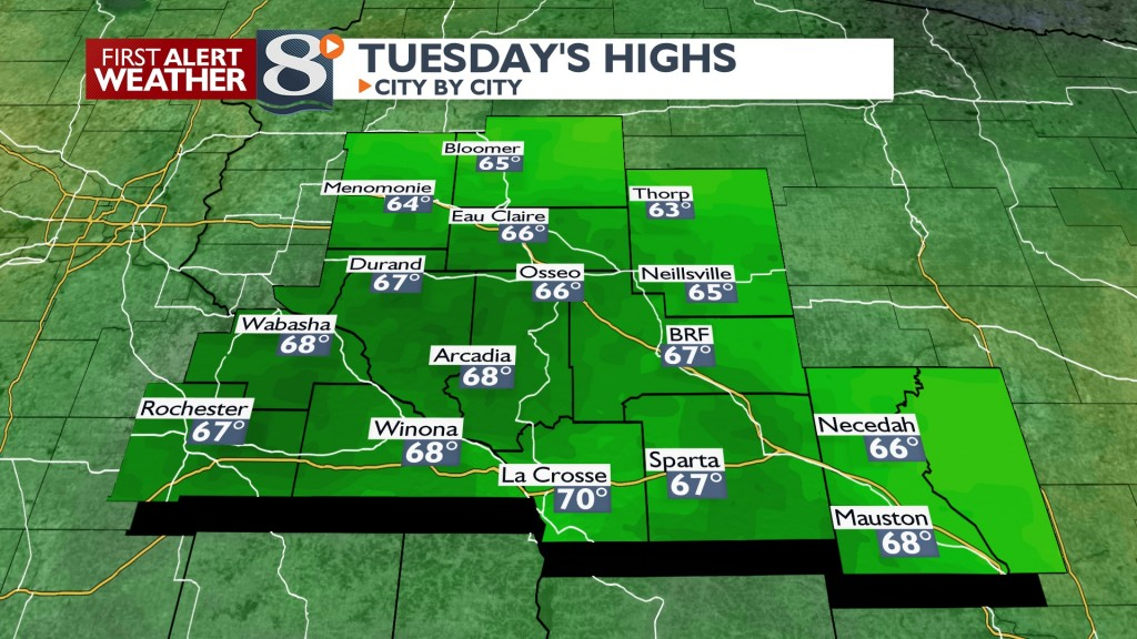Tomorrow's Highs North