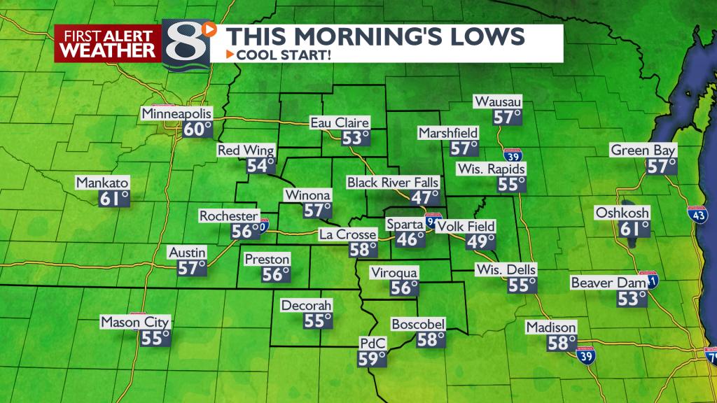 Lows This Morning