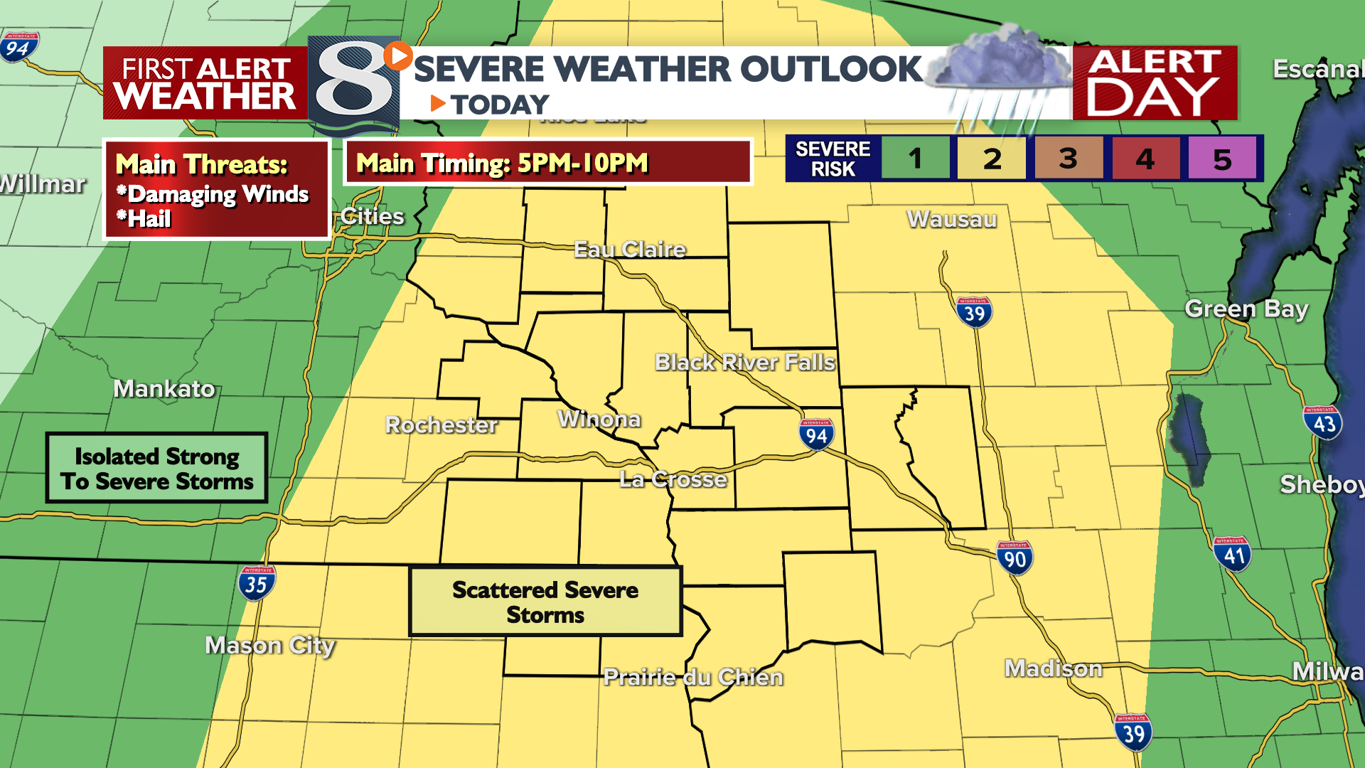 ALERT DAY: Strong Thunderstorms Possible This Evening ...